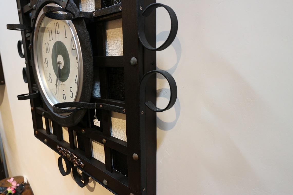 格子フレーム型電波時計,(ST0008)