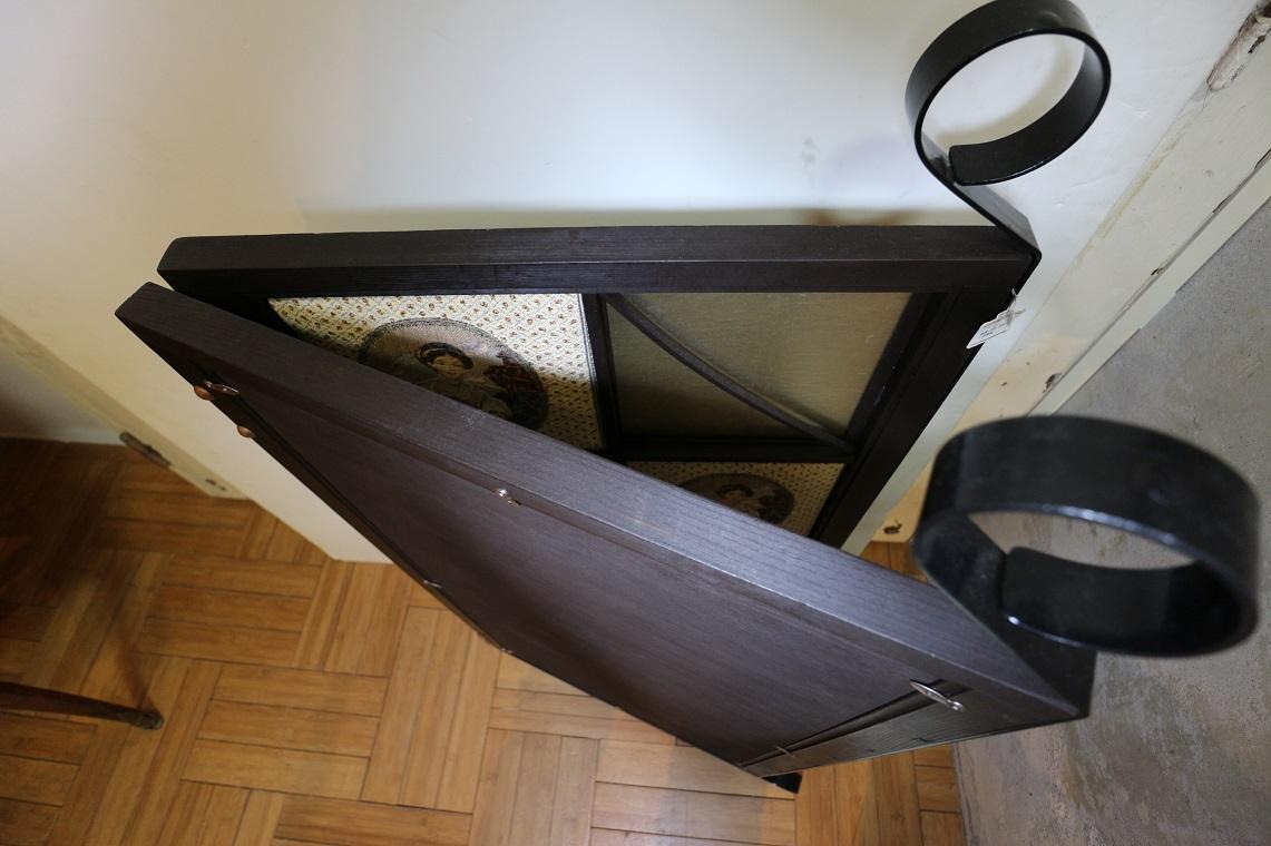 小型ゴブラン織り付き障子屏風,(ST0017)